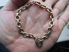 A SUPERB  quality vintage  SOLID LINK 9ct Gold  CHARM BRACELET  Vgc  7 inches
