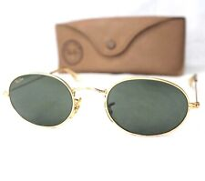 Ray Ban B&L W0976 sunglasses vintage green grey G15 oval gold small