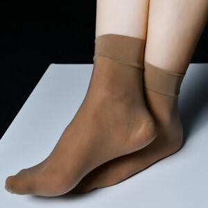 8D Oil Shiny Silky Ankle Socks Summer Transparent Sheer Stockings Women Unisex