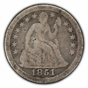 1851-O 10c Seated Liberty Silver Dime - Semi-Key Date Coin - SKU-Z1942
