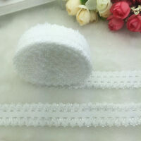 "NEW 10 Yards 3/4"" 20mm White Multirole Fold Over Elastic Spandex Lace Band"