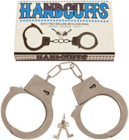 Toys Metal Hand Cuffs Fancy Dress Children Pretend Play For Kids With Two Keys