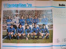 ARGENTINA 78 ALBUM COGED POSTER  NAZIONALE ITALIANA