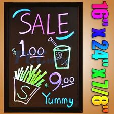 "16""x24"" Flashing Illuminated Erasable Msg Restaurant LED Writing Board H LED03"