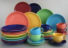 Top Color 12 teiliges Tafelservice bunt für 6 Personen Steingut CreaTable