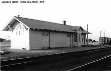 Kings Mill Texas Santa Fe Depot Real Photo Reproduction Vintage Postcard J15088