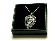 Viking Warrior Face Shield  Pendant on chain, English Pewter, Celtic Norse, Odin