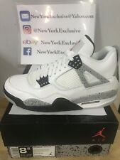 Nike Air Jordan 4 White Cement Size 8.5 IV Grey OG 2016 840606-192