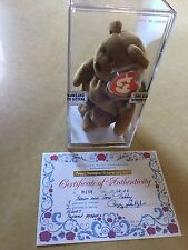 RARE -TY BEANIE BABY - NEW FACE TEDDY - PEGGY GALLAGHER - SEALED  - 3/2 GEN
