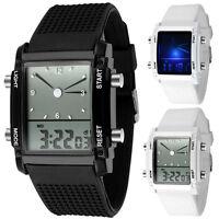 New Luxury Digital Led Watch Chronograph Womens Mens Quartz Sport Wrist Watch