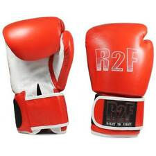 R2F-12ozRd All leather boxing gloves with wrist support 12 oz right 2 fight