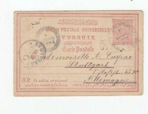 c358/ Türkei Ganzsache oo 1894 -> Stuttgart