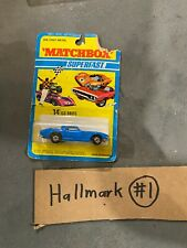 Vintage '70s Matchbox Superfast ISO GRIFO #14 Bright Blue on Card