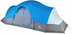 Outbound Dome Tent For Camping With Carry Bag And Rainfly | 12 Person | Blue