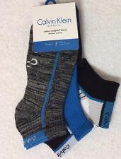 Calvin Klein 3-Pair Athletic Cotton Coolpass Low Cut Socks Assorted   (3886)