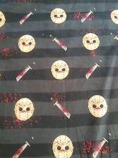 New *In Stock* Halloween Jason Horror 100% Woven Cotton Custom Fabric
