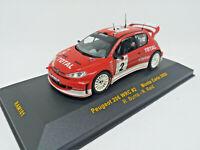 IXO 1:43 - RAM101 Peugeot 206 WRC #2 Monte Carlo 2003 - R.Burns - R. Reid