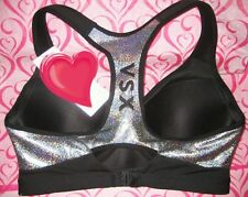 38D Victoria's Secret VSX Incredible Sport Bra 2014 Fashion Show Hologram Silver