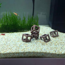 5Pcs Hiding Cave Shrimp Cichlid Ceramic Stone Aquarium Ornament Cube Frame DIY