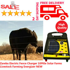 Zareba Fence Charger 10Mile Solar Farms Livestock Farming Electric Energizer New