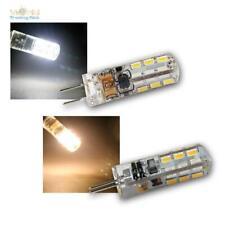 G4 LED Leuchtmittel 24 SMD 360°, Stiftsockel-Lampe Birne, 12V 1,5W, G-4 Silikon