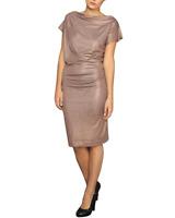 Vivienne Westwood Anglomania Metallic Draped Dress - Medium UK 10-12