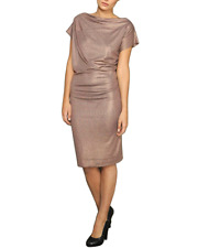Vivienne Westwood Anglomania Metallic Draped Dress - Medium UK 10-12