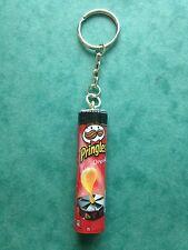 Handmade Novelty Tube of Pringles Original Crisps Keyring/Bag Charm