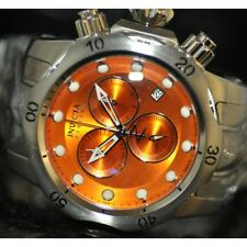 Invicta Men's Rare Swiss Reserve Chrono Orange Dial Stainless Steel Watch 5734