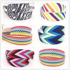 1-100Yard1'' 25MM Rainbow Stripe Printed Grosgrain Ribbon Hair Bow Sewing Ribbon