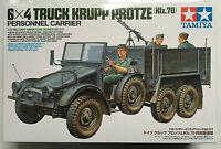 TAMIYA 35317 1/35 6x4 Camión Krupp Protze kfz.70 Personal Transportador