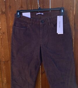CALVIN KLEIN Men's Pants Slim Fit Corduroy Five-Pocket Brown Color Size 30 x 32