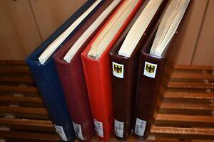 Fünf SAFE-Vordruckalben Bund 1949-2000 mit guter gestempelter Bund-Sammlung (K2)