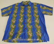 Pineapple Moon Mens Size M Blue Pineapple Hawaiian Rayon Shirt Great Condition