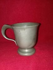 Antique Half Pint Pewter mug/cup John Carrathers Crane 19c