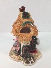 Blue Sky Clayworks Heather Goldminc Pickled Pig Pub 2003 Tea Light Votive Holder
