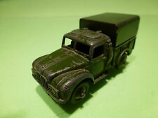 DINKY TOYS 641 1-TON CARGO TRUCK +BED COVER- ARMY GREEN 1:50? - GOOD - MILITARY