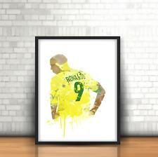 Ronaldo - Brazil Inspired Football Art Print Design Fenomeno Brazilian Number 9