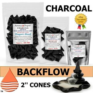 Backflow Incense Charcoal Cones Waterfall Censer Holder Smoke Bullet 2'' Cones