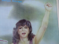 Nicaragua Vintage Poster Equality Feminism Committee of Women Trade Unionist 80s