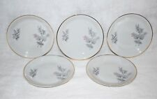 5 Royal Bavarian by Winterling Bavaria Bread & Butter Plates Gray Pink WIG43