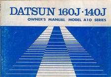Datsun Nissan 160J 140J Model A10 Violet 1978 Original Owners Handbook