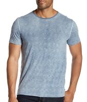 John Varvatos Star USA Men's Short Sleeve Variegated Crew T-Shirt Steel Blue