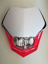 Mascherina Portafaro Racetech V-Face Full LED Bianco Rosso Moto Motard Enduro