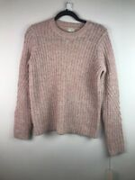 (238) NEW A New Day Women's Chunky Cable Pullover Pink Size Small