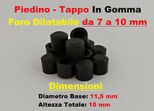 4X GOMMINO ESTERNO IN GOMMA TONDO PIEDINO TAPPO TAPPINO COPRIFORO 4 PEZZI