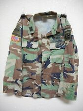 WOODLAND CAMO BDU UNIFORM SHIRT, HOT WEATHER RIPSTOP, MEDIUM-REGULAR, USED