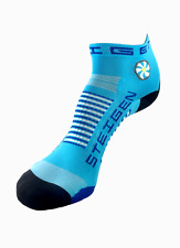 Steigen Breezy Blue Quarter Length Performance Running and Cycling Socks