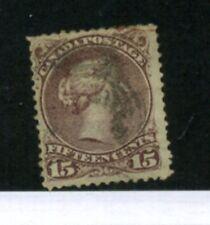 Canada Scott 29 B .15 Stamp Cancelled 1190F