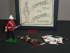 LITTLE LEGION ZULU WAR BRITISH 24TH FOOT WITH DEAD WARRIOR + SHIELDS FIGURE SET
